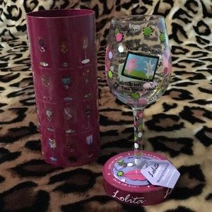"""NWT Lolita """"Mommy's Time Out"""" 15oz wine glass"""